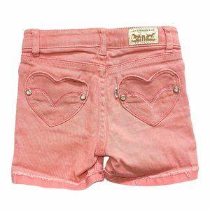 Levi's Pink Midi Short Heart Pocket